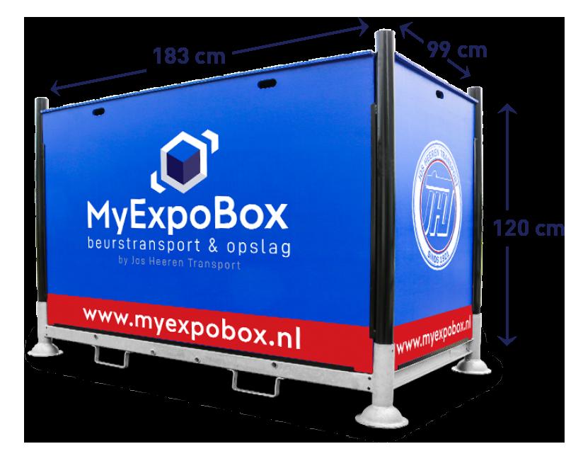 MyExpoBox beursopslag & beurstransport inhoud en maten